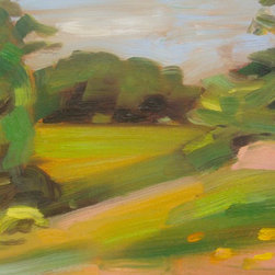 """""""Dashing, Painting"""" - Vermont plein air oil painting on primed canvas mounted on wood panel"""
