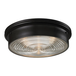 Elk Lighting - Flush Mounts 3-Light Flush Mount in Oiled Bronze - Flush mounts 3-light flush mount in oiled bronze