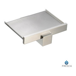 Fresca - Fresca Brass Soap Dish - Wall Model - All our bathroom accessories are imported and are selected for their modern, cutting edge designs. All accessories are made with brass with a quadruple brushed nickel finish. All our accessories have been chosen to complement our other line of products including our vanities, steam showers, whirlpools, and toilets.