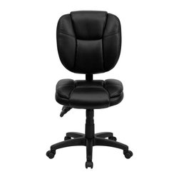 Flash Furniture - Flash Furniture Office Chairs Leather Task chairs X-GG-AEL-KB-F039-OG - This Office Task Chair has multi-functional controls which makes this chair a pleasure to use. When standard office chairs have your legs, back, and neck aching, this chair is the right choice for you. Featuring an overstuffed seat and back that allow true ergonomics, this chair is sure to be the cure for all your chair-related fatigue. [GO-930F-BK-LEA-GG]