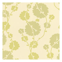 Graham and Brown - Amy Butler Wallpaper - Georgia - Field - Georgia is a bubbly trailing pattern inspired by cotton blossoms. A dimensional use of color adds to the soft flow of the design creating a subtle stripe effect.