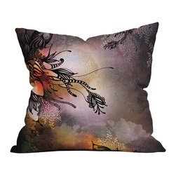 Iveta Abolina Purple Rain Outdoor Throw Pillow - Do you hear that noise? it's your outdoor area begging for a facelift and what better way to turn up the chic than with our outdoor throw pillow collection? Made from water and mildew proof woven polyester, our indoor/outdoor throw pillow is the perfect way to add some vibrance and character to your boring outdoor furniture while giving the rain a run for its money.
