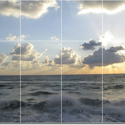 Picture-Tiles, LLC - Waves Photo Backsplash Tile Mural 15 - * MURAL SIZE: 18x24 inch tile mural using (12) 6x6 ceramic tiles-satin finish.