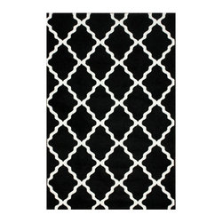 Nuloom - nuLOOM Modern Moroccan Trellis Black Rug (4' x 6') - This area rug rug is crafted with easy-to-clean polypropylene yarns that prevents shedding,unlike wool. The rug features a variety of modern shades that will enhance your decorative scheme.