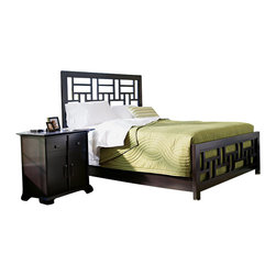 Broyhill - Broyhill Perspectives Lattice Bed 4 Piece Bedroom Set in Graphite - Broyhill - Bedroom Sets - 44444PcLatticeBedSet - Broyhill Perspectives 9 Drawer Dresser in Graphite Finish (included quantity: 1) About This Product: