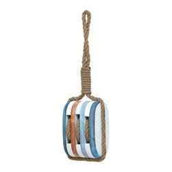Benzara - Wood Rope Nautical Decor with Fine Detail and Bright Color - Create a central focal point in your living room with this 21 in. H Wood Rope Nautical Decor with Fine Detail and Bright Color. This wood rope nautical decor sports an enchanting mix of wood and rope in an exclusive styling. This decor is inspired by the sailor's knot and is designed with special pattern of knots. It is perfect to adorn the walls of your living room, kitchen or hallway. Moreover, the top of rope comes in a loop form that is convenient to hang on the walls. The bright color of the wood and natural color of the rope will perfectly complement a wide range of interiors, be it subtle, neutral or dark colored interiors. It also makes a great gift on special occasions. Made from high quality wood and resilient rope, this decorative piece will exude great delight to your living space..