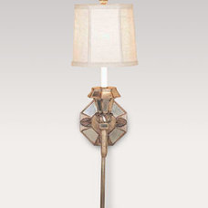 Mirrored Sconce with Linen Shade - Horchow
