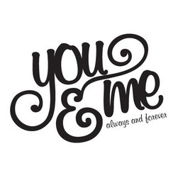 WallQuotes.com - You & Me Wall Quotes Decal Slate - You & Me. Always & forever.
