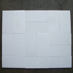 """Stone Center Online - Thassos White 3 x 6 Subway Tile Polished - Marble from Greece - Premium Grade Grecian Thassos Snow White Marble Polished 3x6"""" Wall & Floor Tiles are perfect for any interior/exterior projects such as kitchen backsplash, bathroom flooring, shower surround, countertop, dining room, hall, lobby, corridor, balcony, terrace, spa, pool, etc. Our large selection of coordinating products is available and includes hexagon, herringbone, basketweave mosaics, field tiles, moldings, borders, and more."""