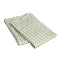 300 Thread Count Egyptian Cotton King Mint Stripe Pillowcase Set - 300 Thread Count Egyptian Cotton King Stripe Mint Pillowcase Set