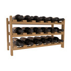 18 Bottle Stackable Wine Rack in Pine with Satin Finish - Expansion to the next level! Stack these 18 bottle kits as high as the ceiling or place a single one on a counter top. Designed with emphasis on function and flexibility, these DIY wine racks are perfect for young collections and expert connoisseurs.