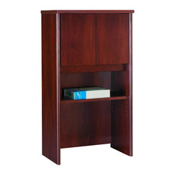 """BBF - Bush Series C 24"""" Storage Hutch in Hansen Cherry - Bush - Hutch - WC24406 - From private offices to workstations Series C configures in dozens of ways giving you the flexibility to design your workspace in the way that best suits your working style.Features:"""