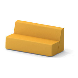 Turnstone - Steelcase - Campfire Big Lounge Yellow - Bid adieu to the bored room.