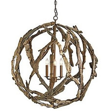 Driftwood Orb Chandelier by Currey and Company at Lumens.com