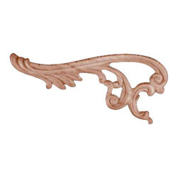 Superior Moulding of Nevada - 770 Left and Right Wood Applique, Set of 2 - Decorative wood onlays and appliques, are decorative ornaments useful for bringing visual interest to flat areas. Embossed wood onlays and appliques are often used to decorate fireplace mantels, stove or range hoods and cabinetry headers.