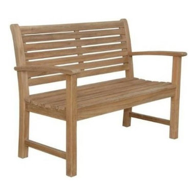 """Anderson Teak - Victoria 48"""" 2-Seater Bench - Enjoy cool evening gathering with your family or friends at your own backyard. Relax and have chat on the beautiful elegant Victoria 2-Seater Bench. Expertly crafted from solid premium teak with mortise and tendon joinery for decades to come. Quality built for generations. Cushion is optional."""
