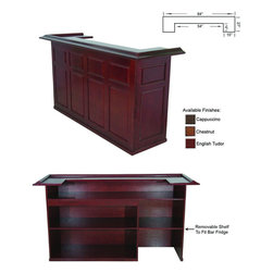 "RAM Gameroom - 84 ""Wood Bar - 84 ""Wood Bar; Material: Chinese Rubberwood; Dimensions: H-44"" x W-84"" x D-26"""