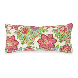 Pine Cone Hill - shalini ivory pillow (15x35) - A sparkling, modern interpretation of an antique Indian block print, on a neutral cotton background. Decorative piping; feather insert included.��This item comes in��ivory.��This item size is��35w 15h.