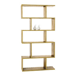 Carmine Bookshelf, Limed Oak By Arteriors