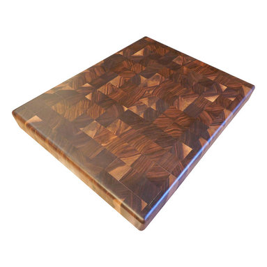 Armani Fine Woodworking - End Grain Walnut Butcher Block - walnut chopping block - This beautiful, handmade Black Walnut End Grain Butcher Block Cutting Board will travel from my small shop directly to your kitchen...I'm confident that you'll love the impeccable quality and care that goes into every handmade piece.