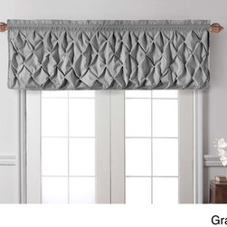None - Carmen Tailored Window Valance - Beautify your bedroom with this sophisticated Carmen Collection window valance, featuring a polyester construction. A puckered diamond design embellishes this contemporary window treatment to suit for your styling needs.