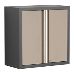Newage Products - NewAge Products Pro Series Taupe Wall Cabinet - With heavy duty steel doors,our Pro Series Wall Cabinet is ideal for securely and efficiently storing heavy-duty garage gear. Plus,resourceful pegboard side panels provide extra storage possibilities for hanging tools and cables