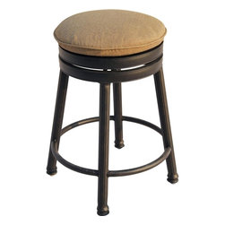 Darlee - Darlee Round Backless Counter Height Swivel Bar Stool - **One backless barstool with cushion included**