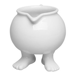Dylan Kendall - Dylan Kendall - Ceramic Creamer with Feet - Nothing invites a moment of relaxation like our footed coffee set! A pause during your day? A bedtime tea? Enjoy the moment with a journey back into your imagination....