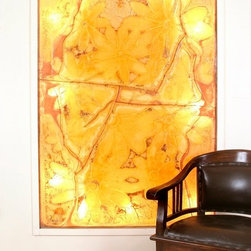 "Stained glass art - by Galilee Lighting - ""Flowers"""