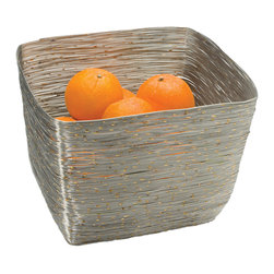 Riado - Wire Serving bowl, Square - Our products are handcrafted using high quality materials. Slight variations and imperfections are expected and are the inherent beauty of these items.