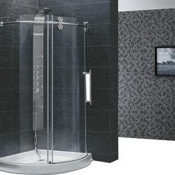 Vigo - VIGO VG6031CHCL40R Frameless Round Shower Enclosure - Make your bathroom an oasis with a VIGO frameless round shower enclosure