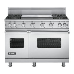 "Viking 48"" Pro-style Gas Range, Stainless Steel Liquid Propane 