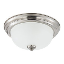 Sea Gull Lighting - Sea Gull Lighting 79441BLE Fluorescent Holman One Light Flush Mount Energy Star - The hallmark of the Holman Collection is versatility and affordability. Many of the fixtures have adjustable arms that allow lights to be mounted up or down.Features: