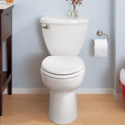 American standard Cadet 3 FloWise Right Height EL Total Toilet - Smarter design for higher performance and fewer clogs – all at a great price. The Cadet® 3 series toilets come in a variety of styles; one piece and two piece models, elongated and round front bowls, right height and compact versions and even water efficient models that flush on just 1.28 gallons per flush. The Cadet 3 is a hard working versatile series with superior performance.