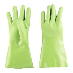 Large Green Rubber Gloves - Do you wash a lot of dishes? Yeah, me too. All that time in the water makes my hands unbearably dry, so I started wearing rubber gloves. Now my hands stay silky smooth all winter long. I'd love to wear these while I'm scrubbing pots.
