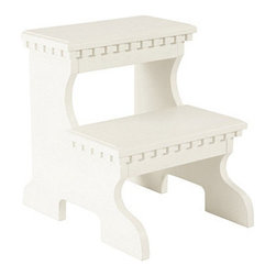 Bailey Step Stool, Off-White - My husband is a foot taller than I am, but he isn't always around to reach things for me. So I love the idea of keeping a cute footstool in the closet for the high shelves. This white one would look great with the dark gray paint color.
