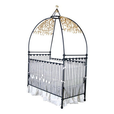 Gothic Iron Canopy Crib by Corsican Iron Furniture - This is the perfect crib for your own little Wednesday.