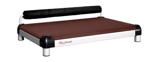 DoggySnooze - snoozeSleeper, Memory Foam, 1 Bolster Blk - It's a dog's life for pooches who get to snooze on this contemporary dog bed. Elevated and extra cushy, thanks to a memory foam mattress. Choose the bolster color that complements your decor. Made in the USA.