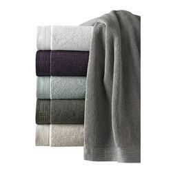 Luxor Linens - San Regis Turkish Towel Set, 6-Piece, Blue Grass - Piece dyed jacquard border.
