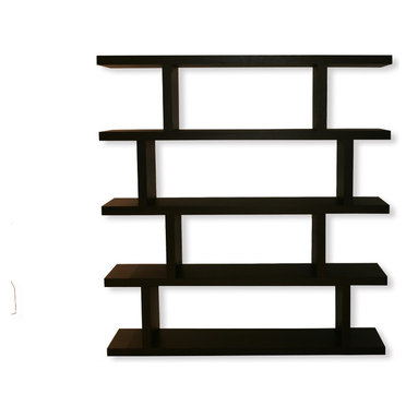 Tema Home - Step High, Wenge - Your friends will think you built custom shelves when you fill a wall with row upon row of these staggered-style shelving units. Coming in two heights, these attractive, asymmetrical pieces can stand alone or be combined to fit any space perfectly. Ideal for home libraries, room dividers or even the pantry, the sky's (and ceiling's) the limit.