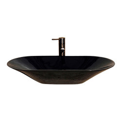 The Allstone Group - V-VGO2814 Black Granite Polished Vessel Sink - Natural stone strikes a balance between beauty and function. Each design is hand-hewn from 100% natural stone.  Vessel sinks can be the most inspiring feature in a bathroom, adding style and beauty to any bath space.  Stone not only is pleasing to the eye but also has the feel of something natural and solid.