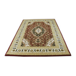 Rug - ~7 ft. x 10 ft. Authentic Burgundy Traditional Modern Living Room Area Rug - Large Living Room Area Rug