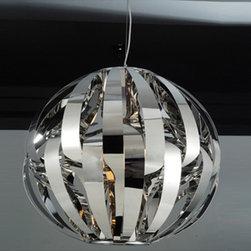 Whiteline Imports - Whiteline Iris Stainless Steel Pendant Lamp - Whiteline Iris Stainless Steel Pendant Lamp