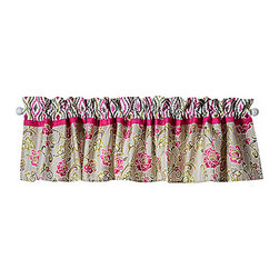 Trend Lab - Waverly Jazzberry Window Valance - The Waverly Jazzberry Window Valance measures 82 in x 15 in and fits a standard size window.