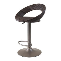 """Winsome Wood - Winsome Wood Accent Chair X-83139 - Bali Airlift Stool is swivel, adjustable in height and comfortable.  It features synthetic woven seat, hydraulic piston and chrome plated steel base.  Overall highest size : 20.71""""W x 18.41""""D x 38.66""""H.   Seat Height Adjustable between 22.36 to 31.20""""H"""