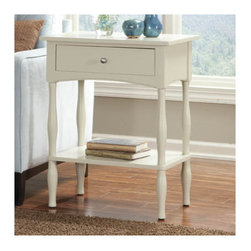 Alaterre - Shaker Cottage End Table - Features: -Shaker Cottage collection. -Composite wood construction. -Nice accent in a lifestyle setting. -General conformity certificate. -Manufacturer provides 5 years warranty and 1 year guarantee against manufacturing related issues.