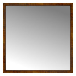 """Posters 2 Prints, LLC - 62"""" x 62"""" Belmont Light Brown Custom Framed Mirror - 62"""" x 62"""" Custom Framed Mirror made by Posters 2 Prints. Standard glass with unrivaled selection of crafted mirror frames.  Protected with category II safety backing to keep glass fragments together should the mirror be accidentally broken.  Safe arrival guaranteed.  Made in the United States of America"""