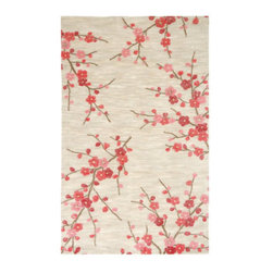 Grandin Road - Cherry Blossom Colorado Rug - Suitable for high-traffic areas. Hand-tufted construction. 100% polyester. Our Cherry Blossom Area Rug will provide a soft burst of color and comfort underfoot. Flowering branches blooming with pink and red florets on a Colorado Clay ground, this delightful design is made even more alluring with a sensible price point.  .  .  . Imported.