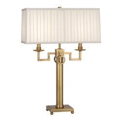 Robert Abbey - Robert Abbey Mary McDonald Baudelaire Table Lamp 2595 - Antique Brass Finish