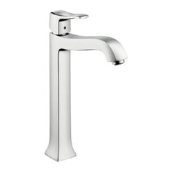 Hansgrohe - Hansgrohe 31078001 Chrome Metris C Metris C Bathroom Faucet Vessel - Features:All brass faucet body and handle constructionFully covered under Hansgrohe s limited lifetime warrantyHansgrohe faucets are designed and engineered in GermanySuperior finishing process - finishes will resist corrosion and tarnishing through everyday useSingle lever handle operationLow lead compliant- meeting federal and state regulations for lead contentWaterSense Certified product- using at least 30% less water than standard 2.2 GPM faucets, while still meeting strict performance guide lines.Designed for use with standard U.S. plumbing connectionsAll hardware needed for mounting is included with faucetIncludes metal pop-up drain assemblyProduct Technologies / Benefits: EcoRight: With the addition of a special flow limitation system these faucets by Hansgrohe reduce water consumption by up to 60%. While conventional bathroom mixing faucets will use up to 3- 1/2 gallons-per-minute, EcoRight faucets reduce that need to around 1- 1/2 GPM. The EcoRight aerator is integrated into the spout of the faucet enriching the water with air; the result is a full, bubbling jet of water, making conservation simple with virtually no sacrifice.QuickClean: Calcareous water, dirt, cleaning agents; faucets and showers have to be able to withstand a lot. QuickClean technology gives you the power to make residues disappear in an instant. With the silicon nozzles Hansgrohe has fitted to its faucet aerators and shower jets, dirt and limescale can be rubbed off with ease. This innovation adds infinite value, as products that are well maintained and limescale free remain functional and last longer.ComfortZone Faucet:  These tall, expansive faucets provide an extra-comfortable hand washing experience. Ceramic cartridges offer smooth, noise-free operation, while a l